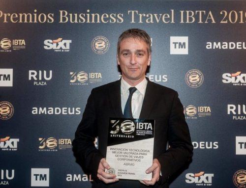 Aervio recibe premio IBTA por Innovación Tecnológica para Viajes Corporativos