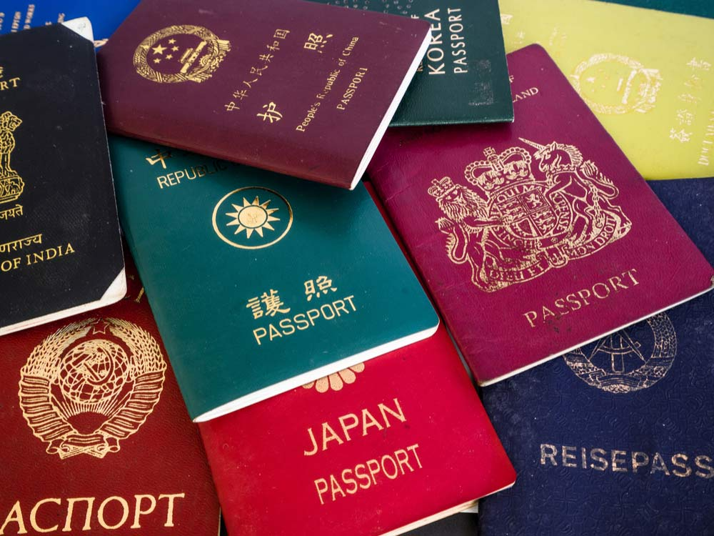 motivo color de los pasaportes